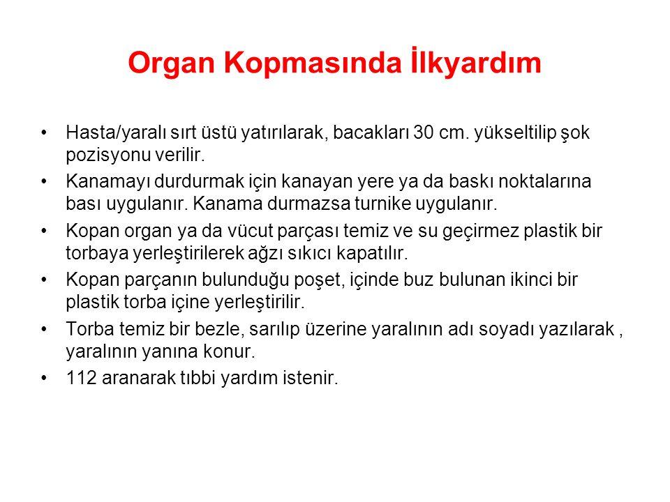 Organ Kopmasında İlkyardım