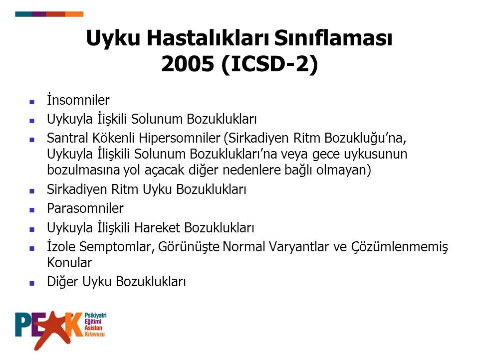 Uyku Hastalıkları Sınıflaması 2005 (ICSD-2)