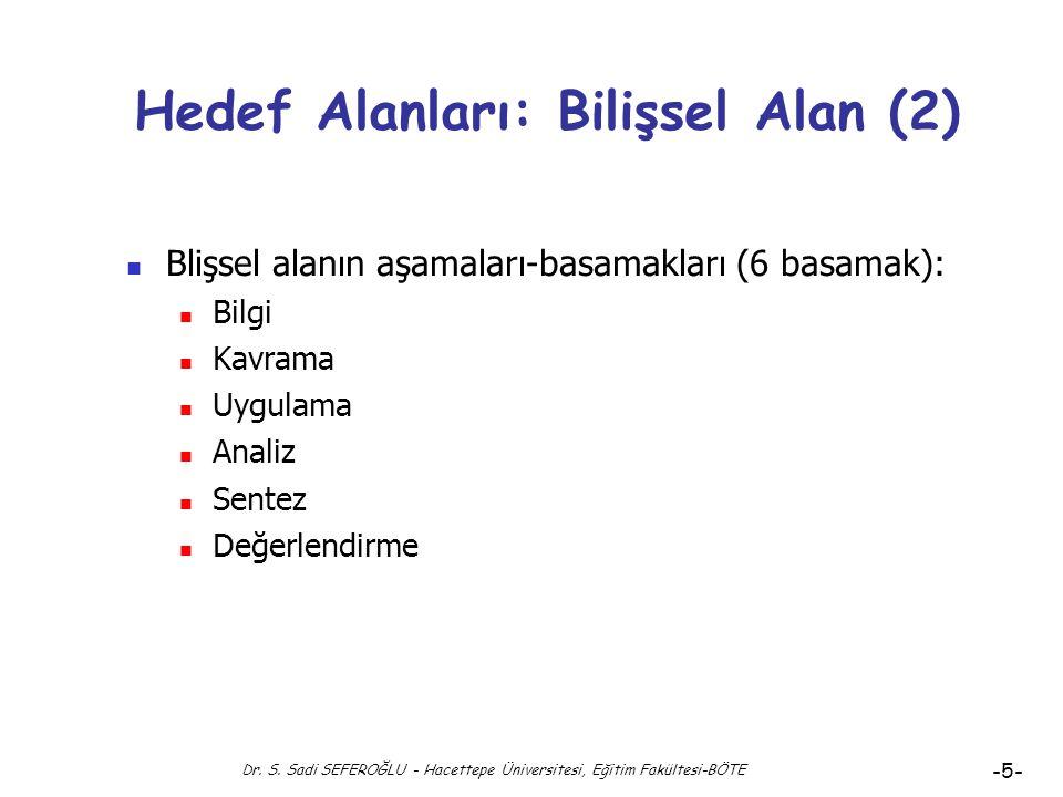 Hedef Alanları: Bilişsel Alan (2)