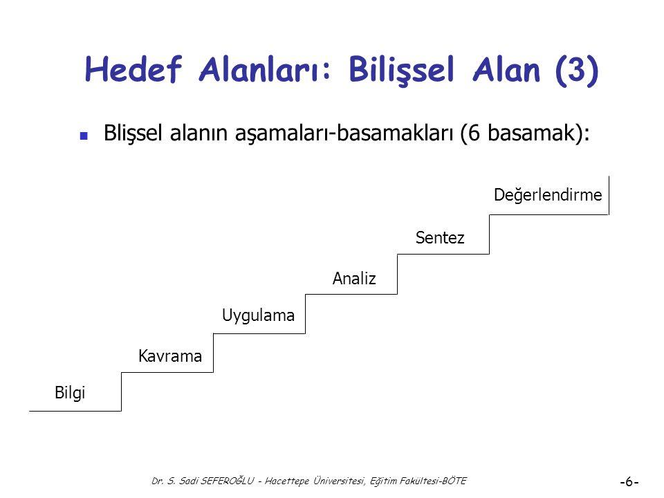 Hedef Alanları: Bilişsel Alan (3)