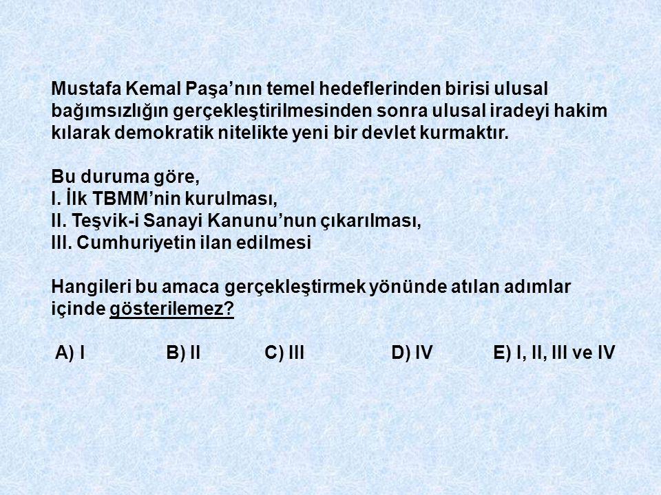 Mustafa Kemal Paşa'nın temel hedeflerinden birisi ulusal bağımsızlığın gerçekleştirilmesinden sonra ulusal iradeyi hakim kılarak demokratik nitelikte yeni bir devlet kurmaktır.