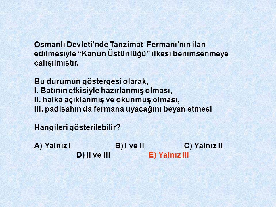 Osmanlı Devleti'nde Tanzimat Fermanı'nın ilan