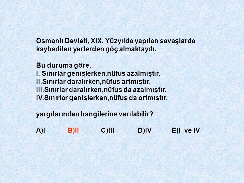 Osmanlı Devleti, XIX. Yüzyılda yapılan savaşlarda kaybedilen yerlerden göç almaktaydı.