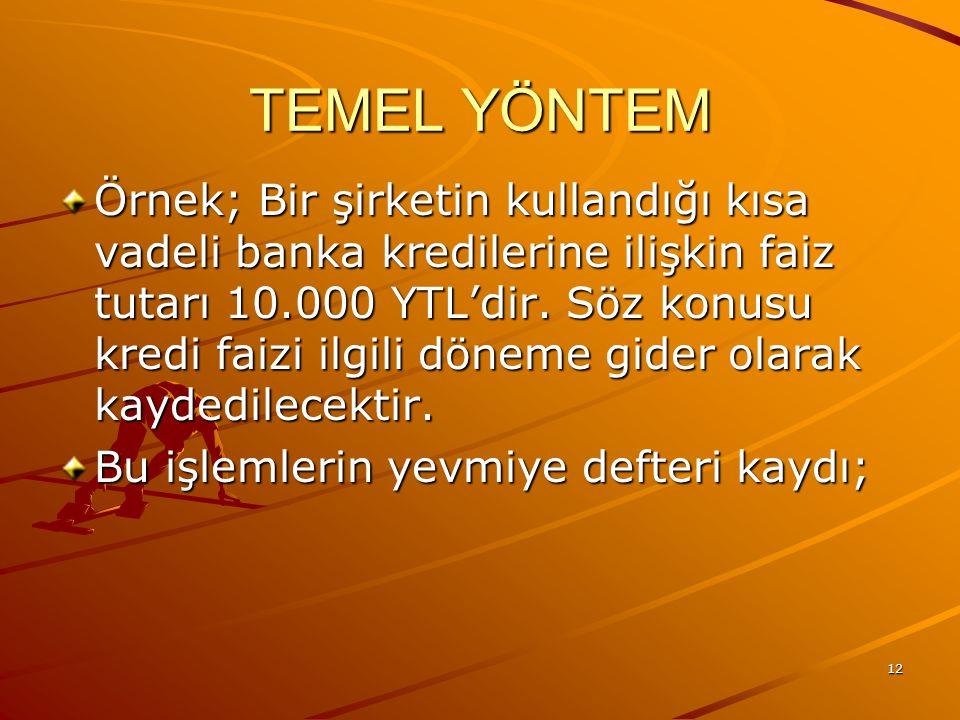 TEMEL YÖNTEM
