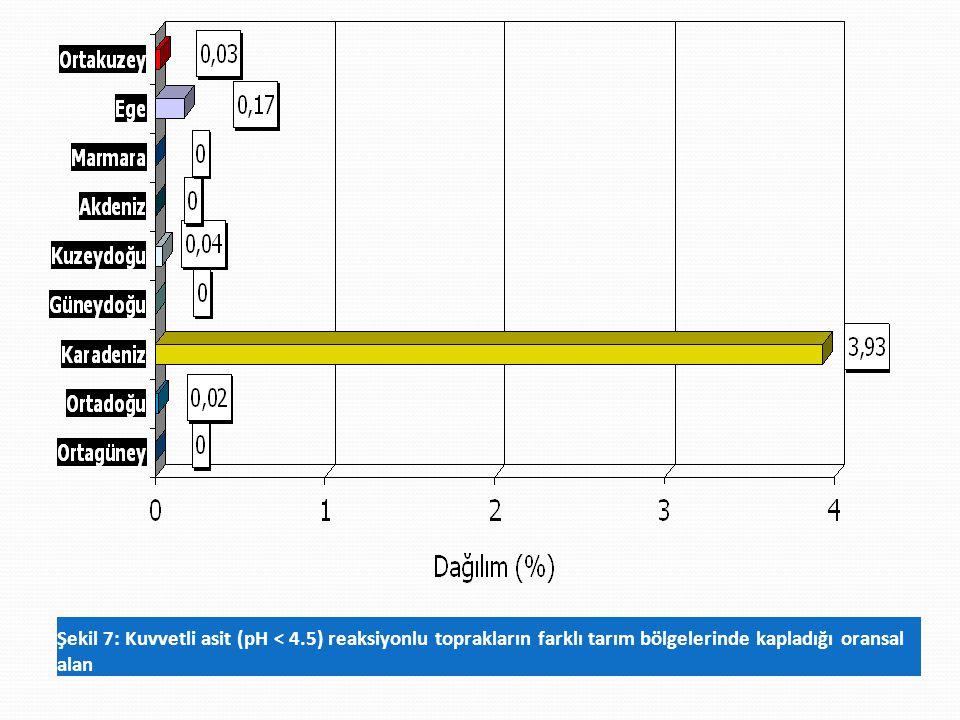 Şekil 7: Kuvvetli asit (pH < 4