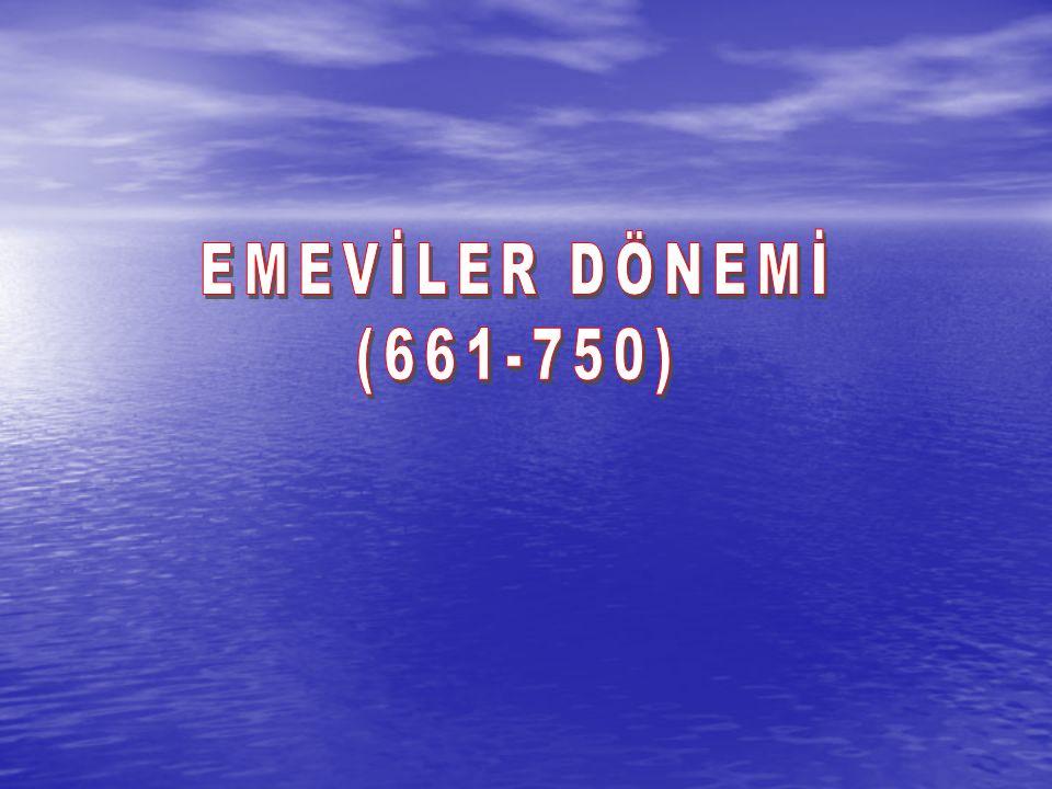 EMEVİLER DÖNEMİ (661-750)