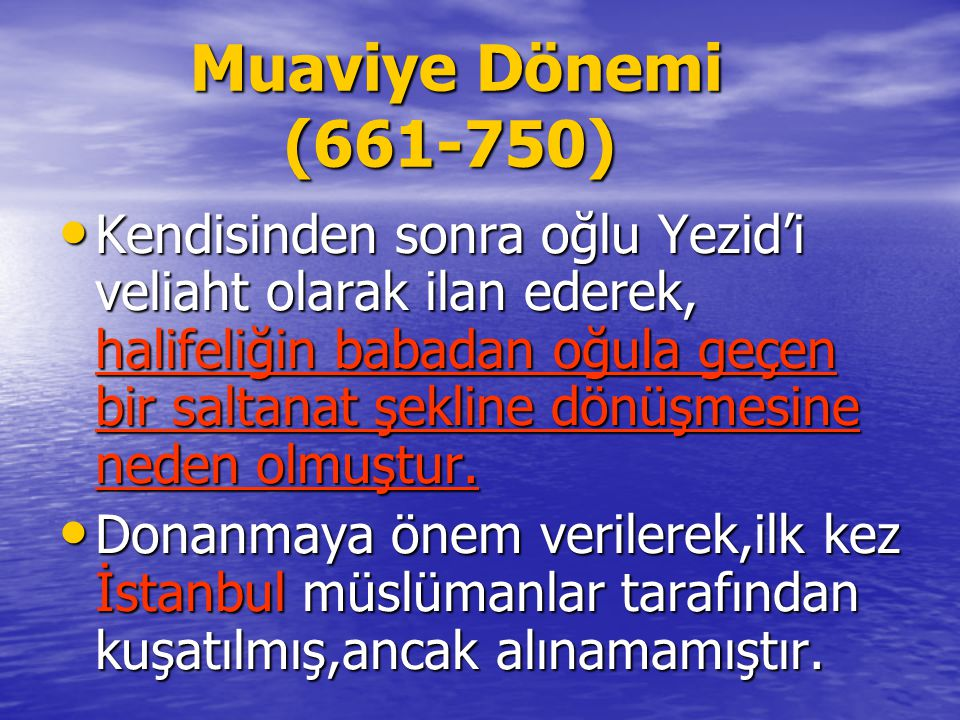 Muaviye Dönemi (661-750)
