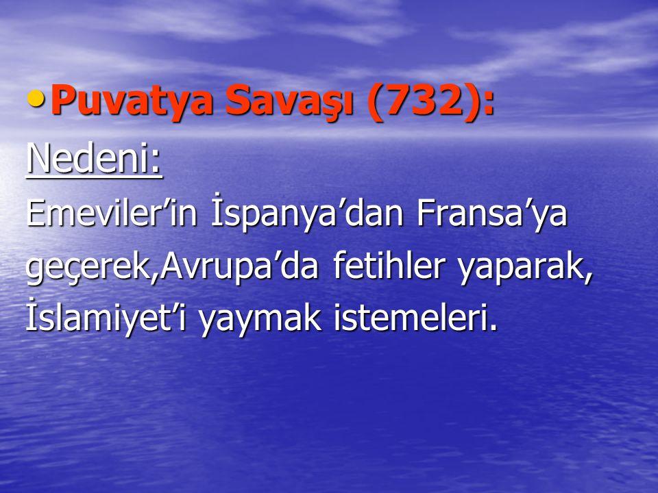 Puvatya Savaşı (732): Nedeni: Emeviler'in İspanya'dan Fransa'ya