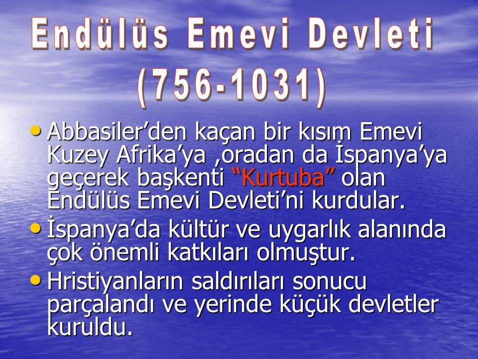 Endülüs Emevi Devleti (756-1031)