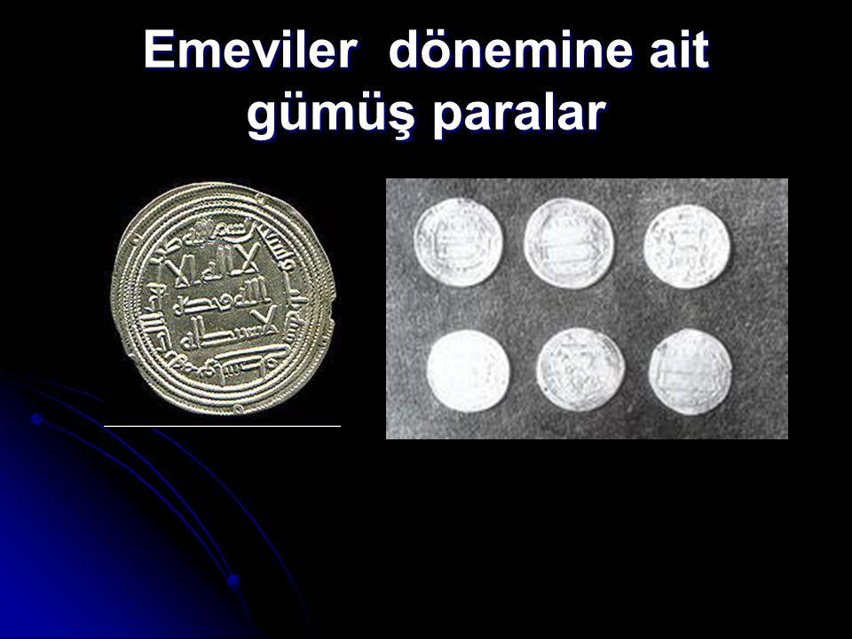 Emeviler dönemine ait gümüş paralar