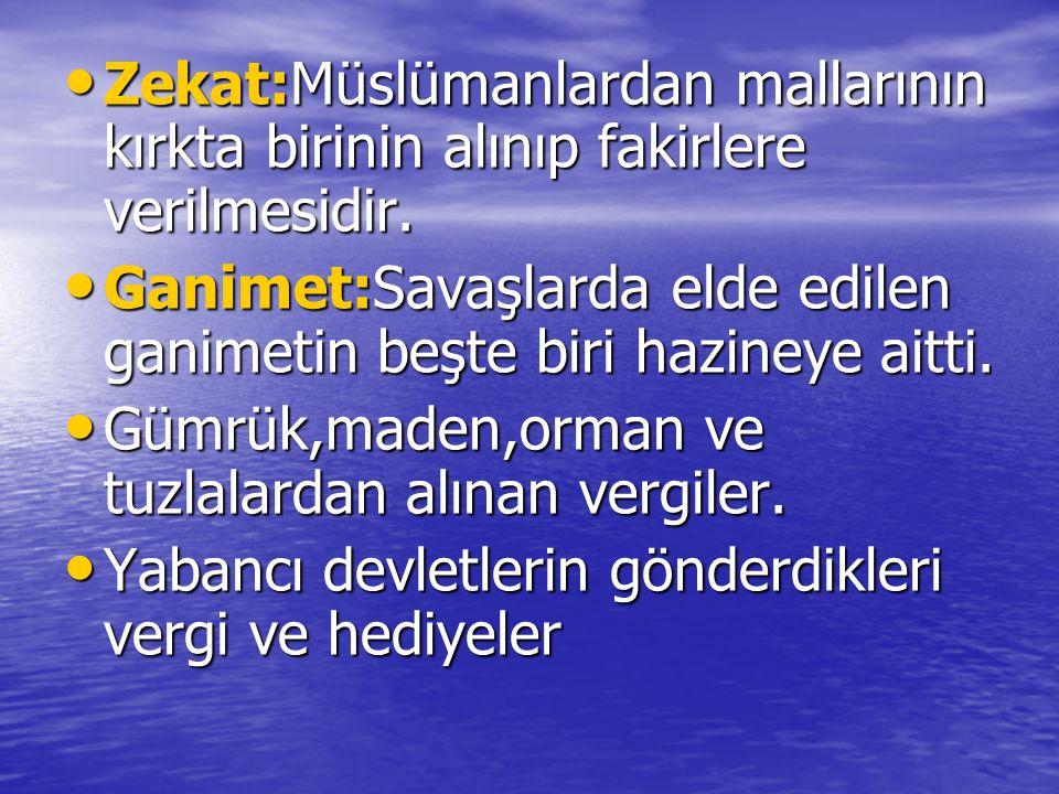 Zekat:Müslümanlardan mallarının kırkta birinin alınıp fakirlere verilmesidir.