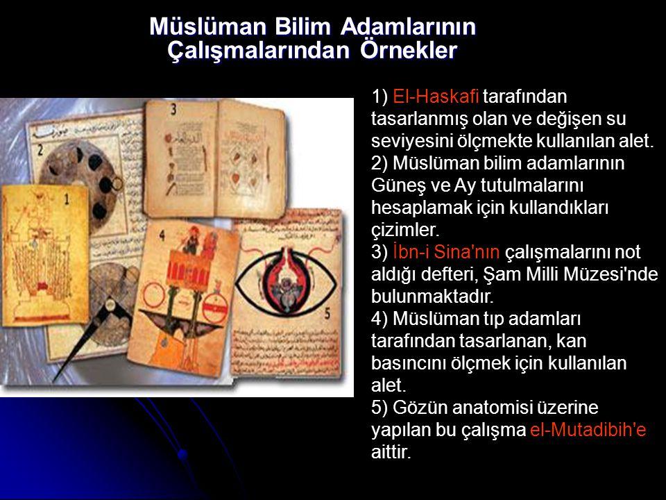 Müslüman Bilim Adamlarının Çalışmalarından Örnekler