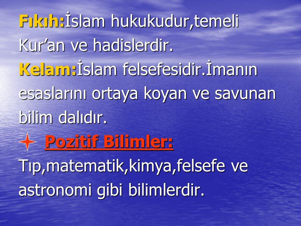 Fıkıh:İslam hukukudur,temeli
