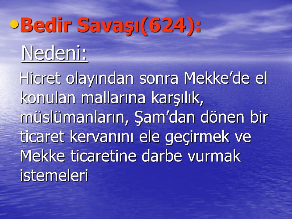 Bedir Savaşı(624): Nedeni: