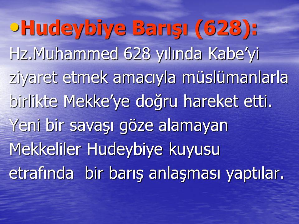 Hudeybiye Barışı (628): Hz.Muhammed 628 yılında Kabe'yi