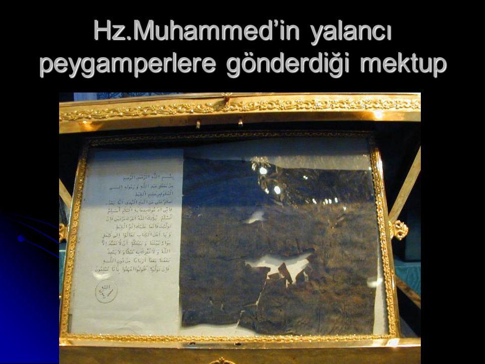 Hz.Muhammed'in yalancı peygamperlere gönderdiği mektup
