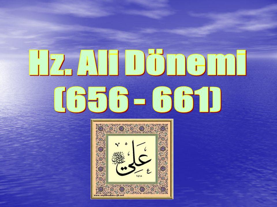 Hz. Ali Dönemi (656 - 661)