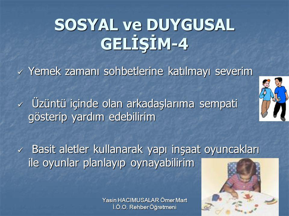 SOSYAL ve DUYGUSAL GELİŞİM-4