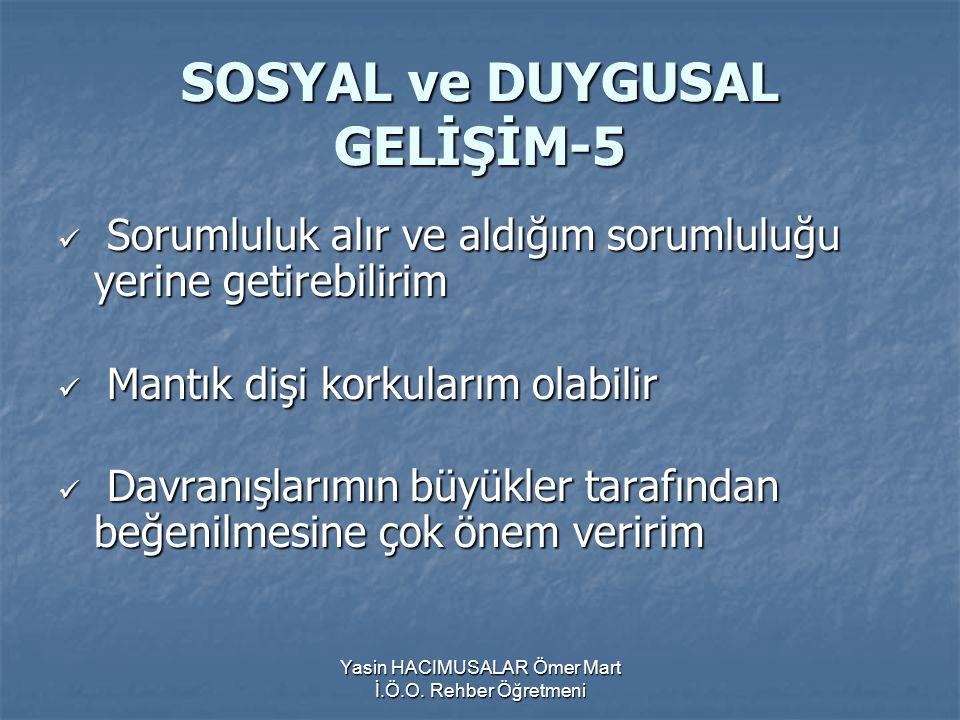SOSYAL ve DUYGUSAL GELİŞİM-5