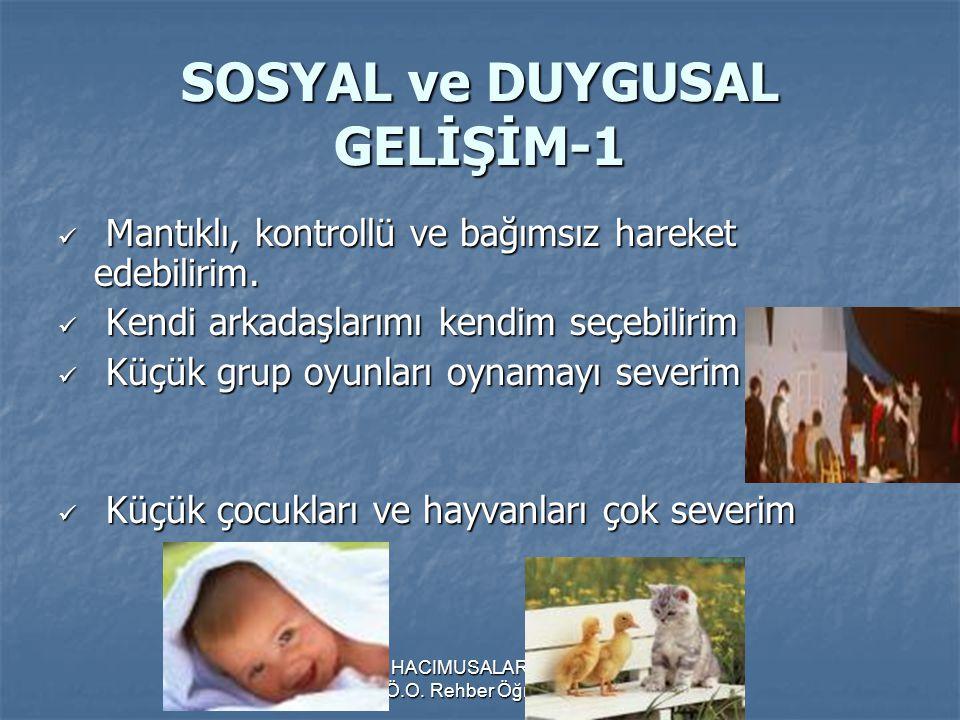 SOSYAL ve DUYGUSAL GELİŞİM-1