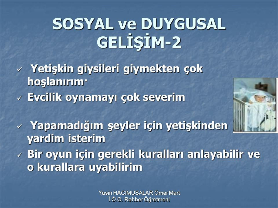 SOSYAL ve DUYGUSAL GELİŞİM-2