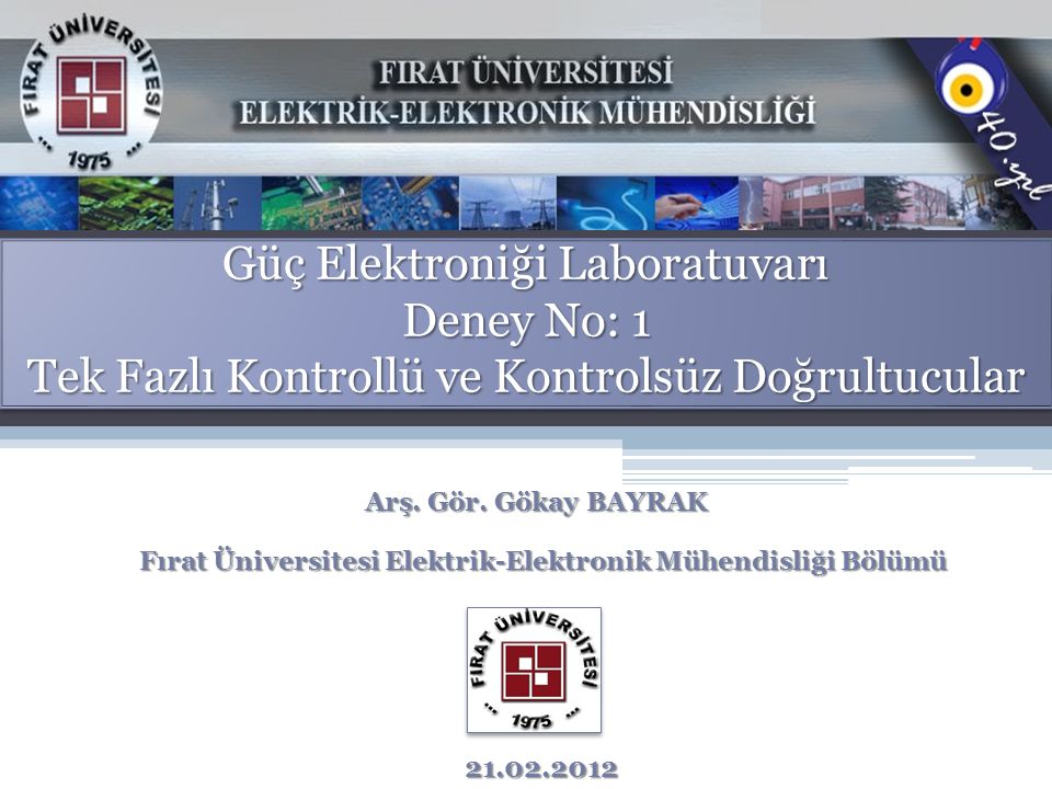 Fırat Üniversitesi Elektrik-Elektronik Mühendisliği Bölümü