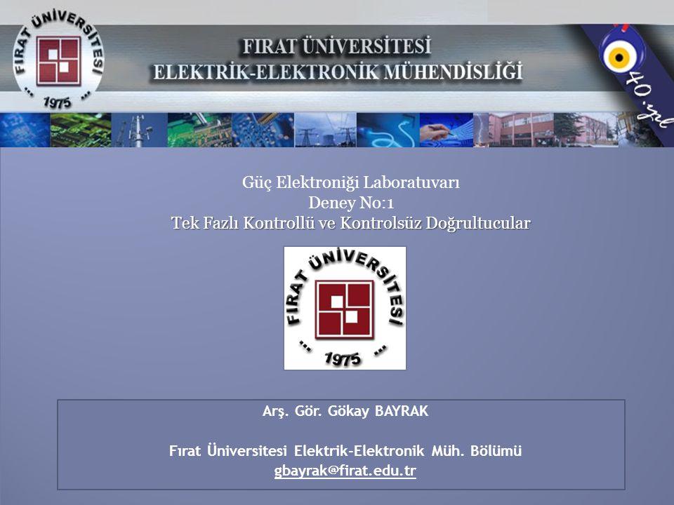 Fırat Üniversitesi Elektrik-Elektronik Müh. Bölümü