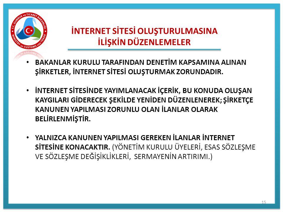 İNTERNET SİTESİ OLUŞTURULMASINA