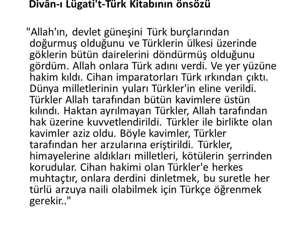 Divân-ı Lügati t-Türk Kitabının önsözü