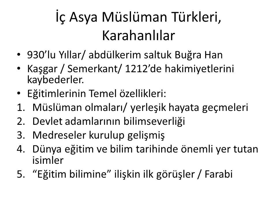 İç Asya Müslüman Türkleri, Karahanlılar