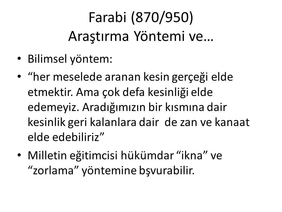 Farabi (870/950) Araştırma Yöntemi ve…