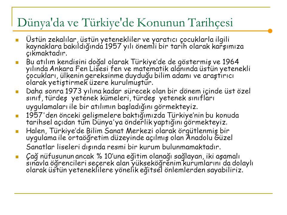 Dünya da ve Türkiye de Konunun Tarihçesi