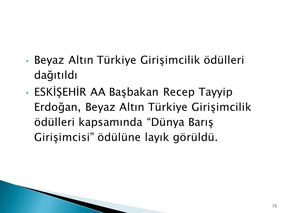 Beyaz Altın Türkiye Girişimcilik ödülleri dağıtıldı