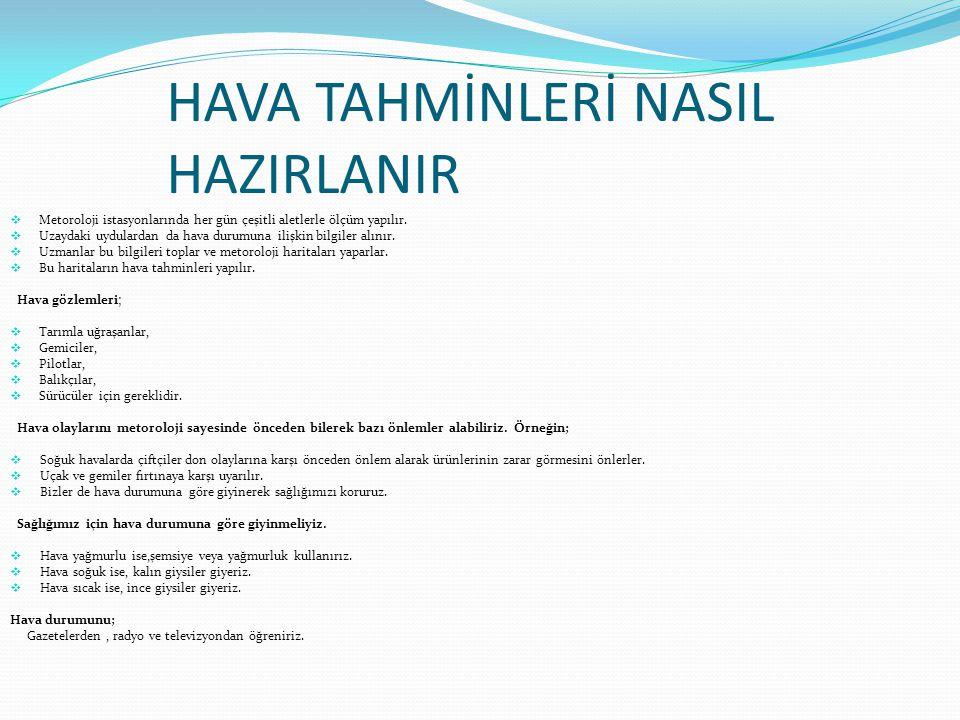 HAVA TAHMİNLERİ NASIL HAZIRLANIR