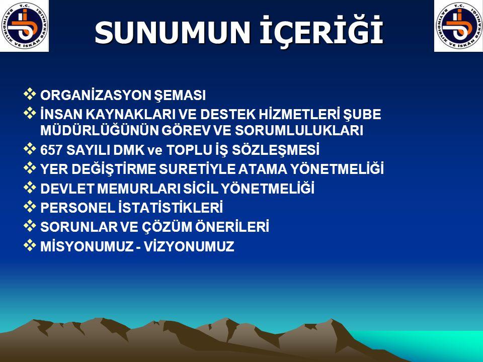 SUNUMUN İÇERİĞİ ORGANİZASYON ŞEMASI