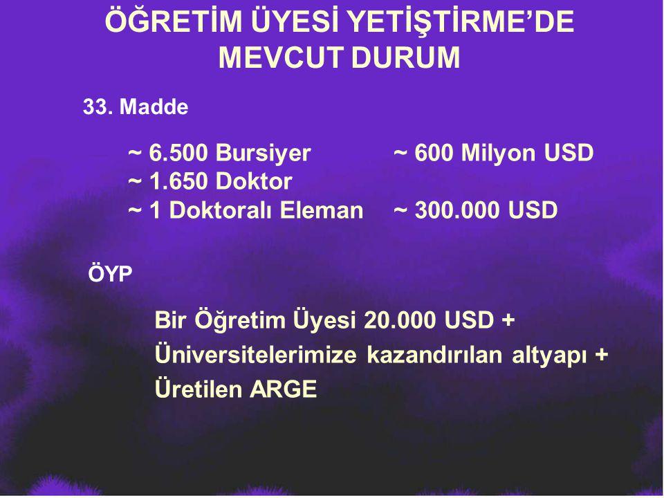 ÖĞRETİM ÜYESİ YETİŞTİRME'DE