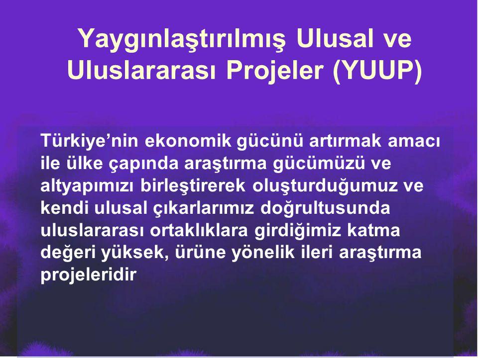 Yaygınlaştırılmış Ulusal ve Uluslararası Projeler (YUUP)