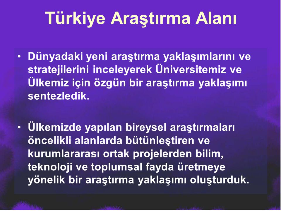 Türkiye Araştırma Alanı