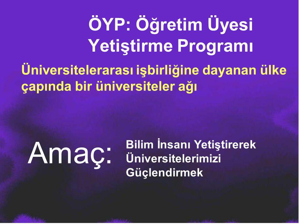 ÖYP: Öğretim Üyesi Yetiştirme Programı