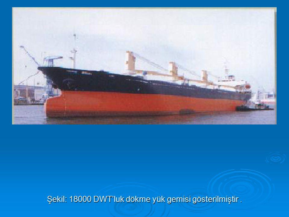 Şekil: 18000 DWT'luk dökme yük gemisi gösterilmiştir .