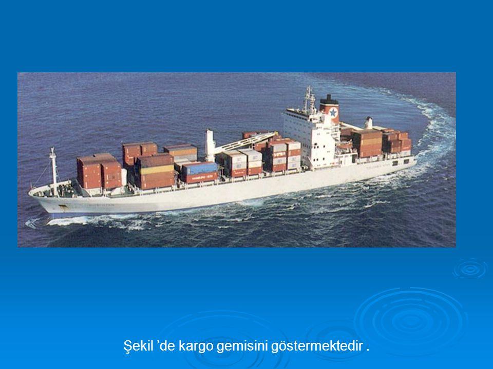 Şekil 'de kargo gemisini göstermektedir .