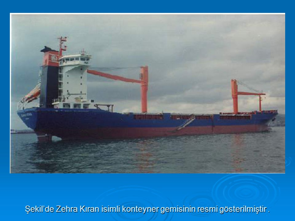 Şekil'de Zehra Kıran isimli konteyner gemisinin resmi gösterilmiştir .