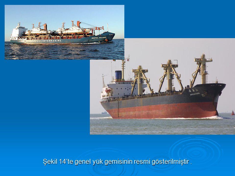 Şekil 14'te genel yük gemisinin resmi gösterilmiştir .