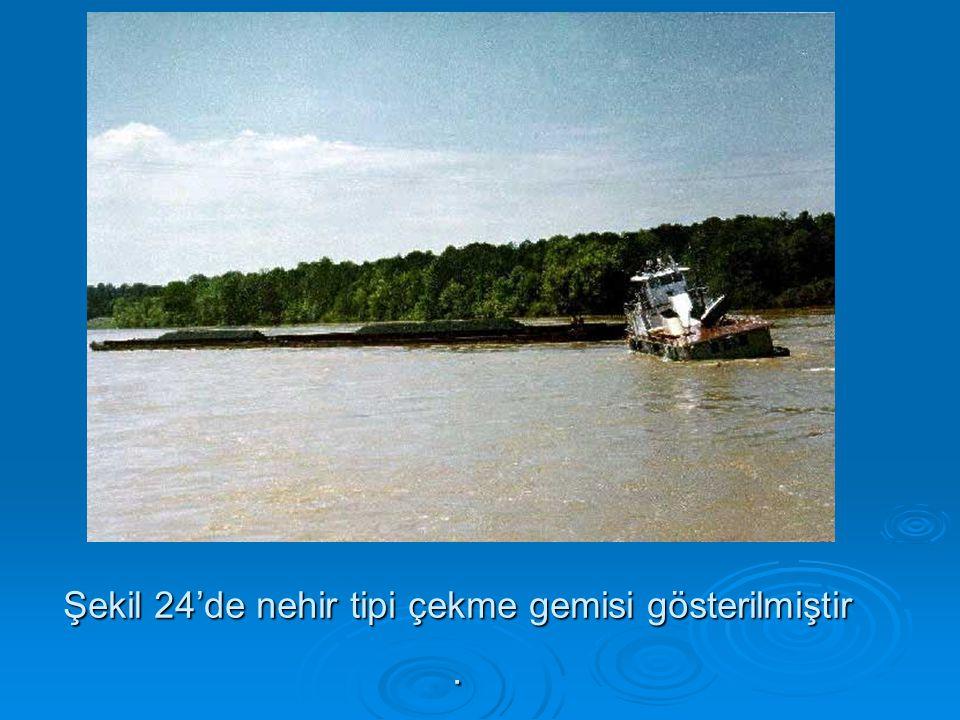 Şekil 24'de nehir tipi çekme gemisi gösterilmiştir .