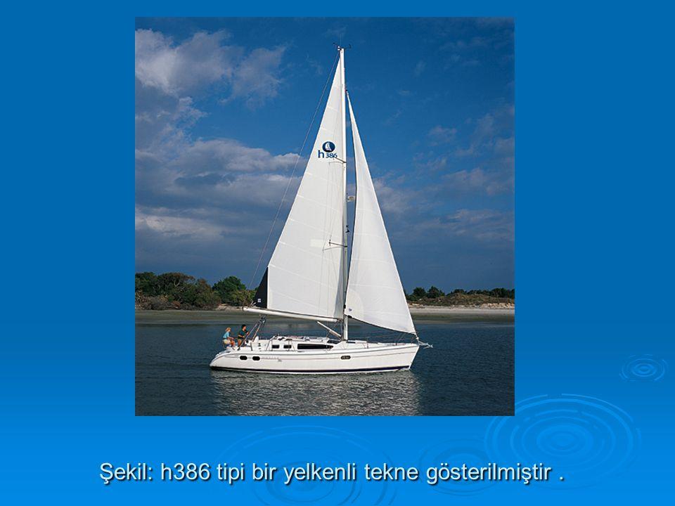 Şekil: h386 tipi bir yelkenli tekne gösterilmiştir .