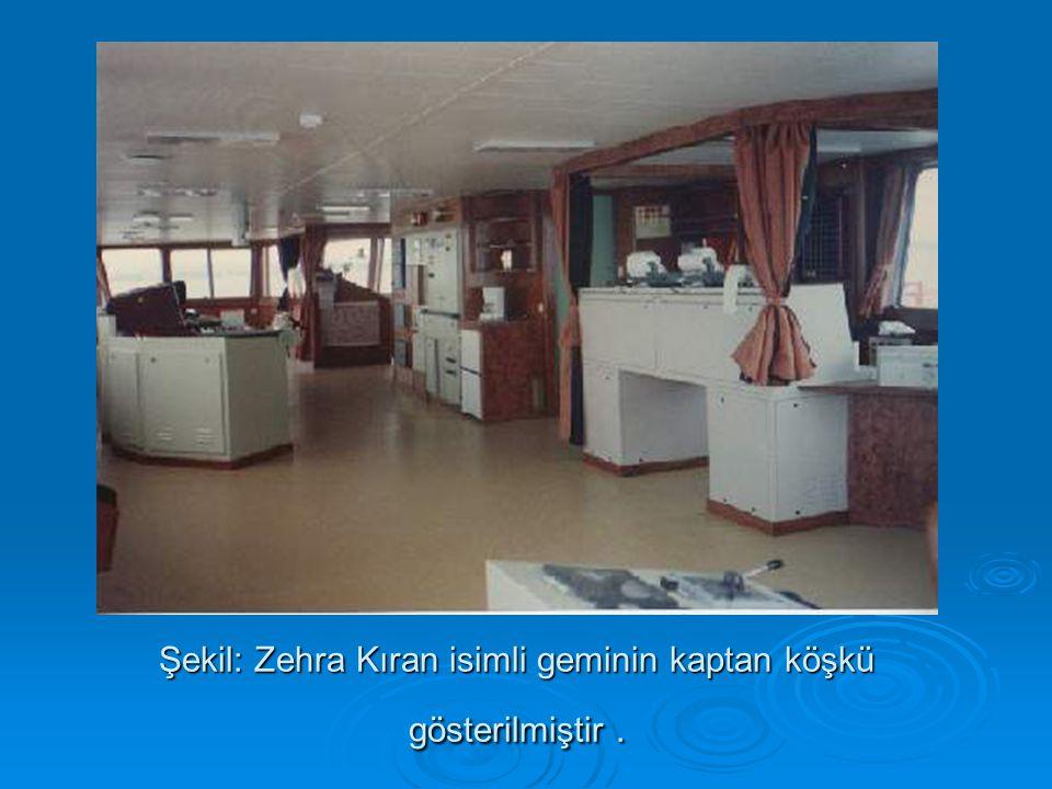Şekil: Zehra Kıran isimli geminin kaptan köşkü gösterilmiştir .