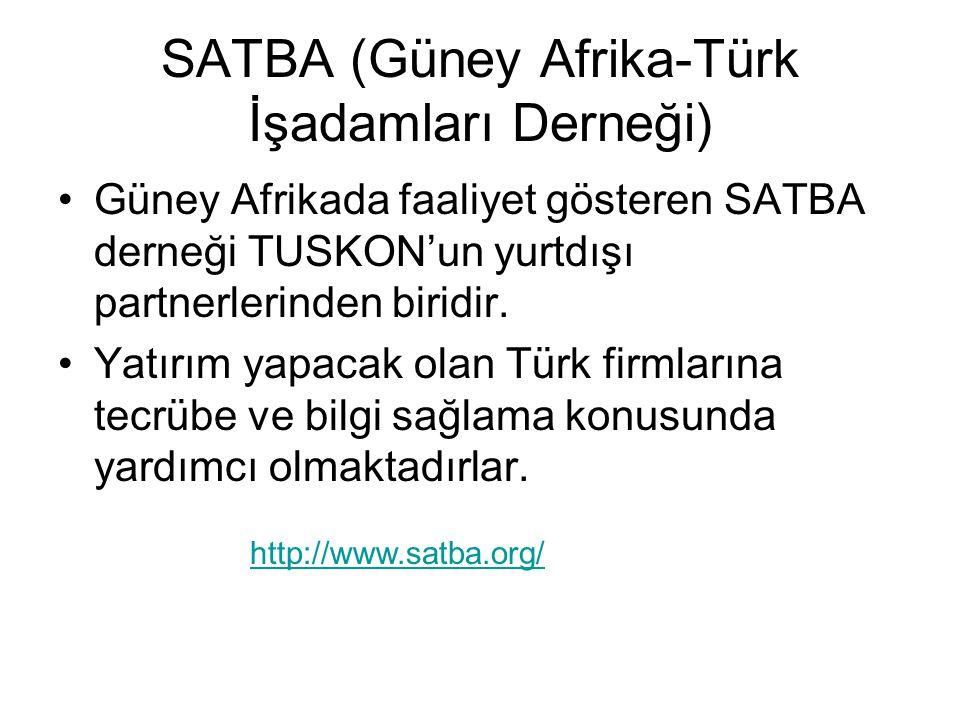 SATBA (Güney Afrika-Türk İşadamları Derneği)