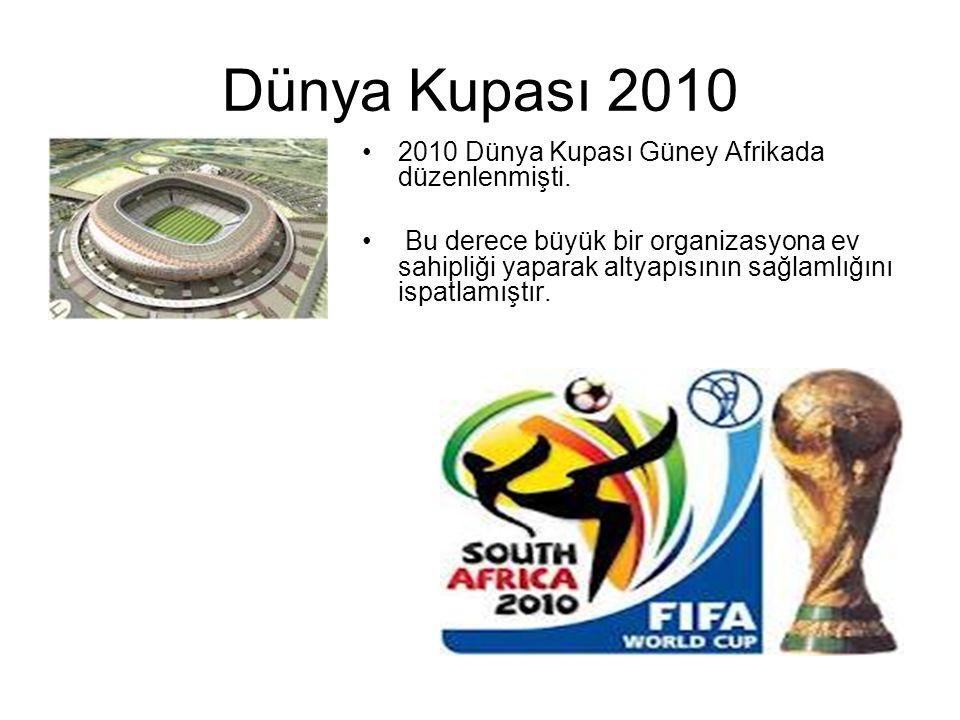Dünya Kupası 2010 2010 Dünya Kupası Güney Afrikada düzenlenmişti.