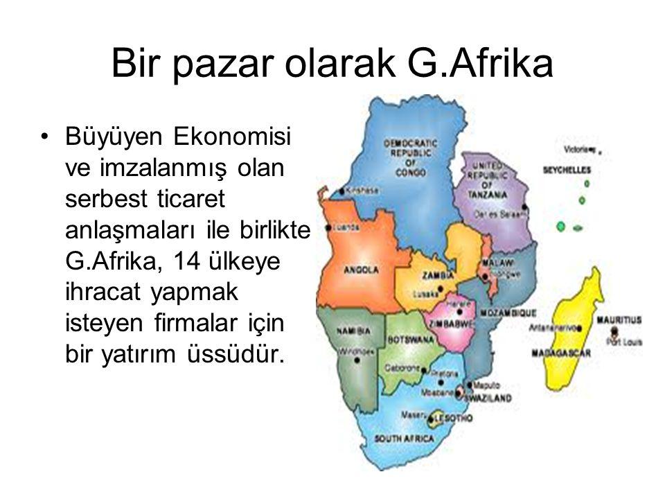 Bir pazar olarak G.Afrika