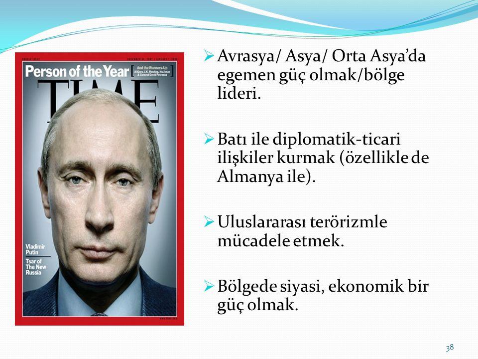 Avrasya/ Asya/ Orta Asya'da egemen güç olmak/bölge lideri.